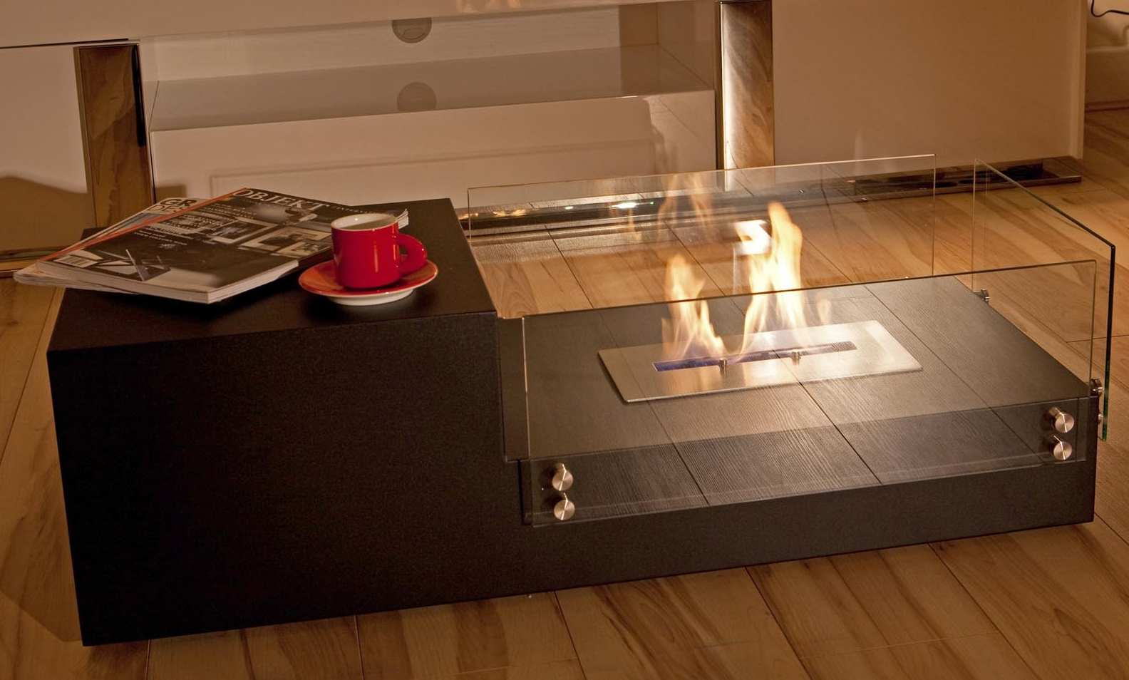 The Naked Flame Dual Bio Ethanol Freestanding Fire Table
