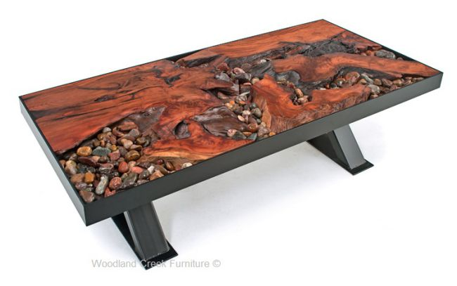 A River Runs Through It Unique Coffee Table
